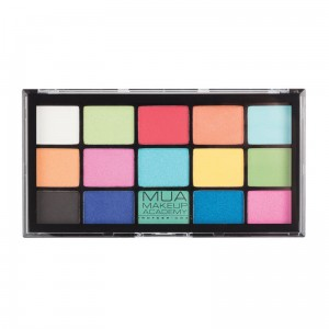 MUA Pro 15 Shade Eyeshadow Palette Colour Burst Paleta 15 cieni do powiek