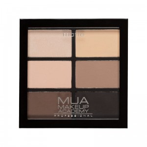 MUA Pro 6 Shade Eyeshadow Palette Natural Essentials Paleta 6 matowych cieni do powiek